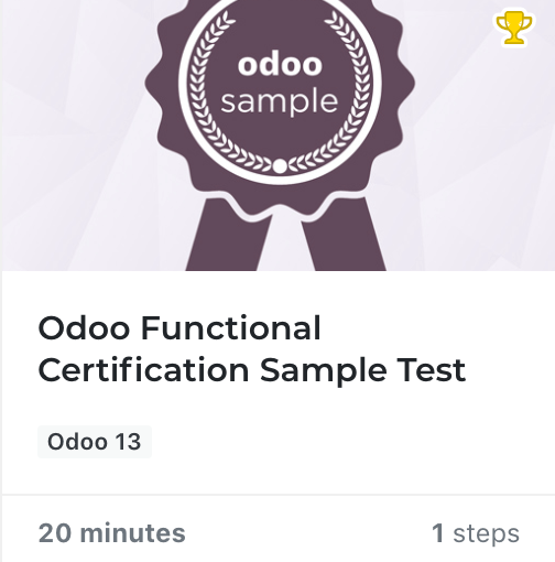 Fuctional Certification - Odoo Learning