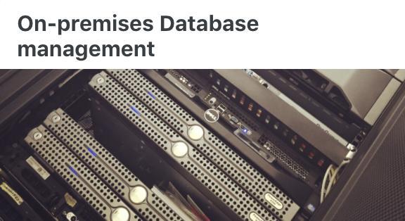On premises DB - User Documentation