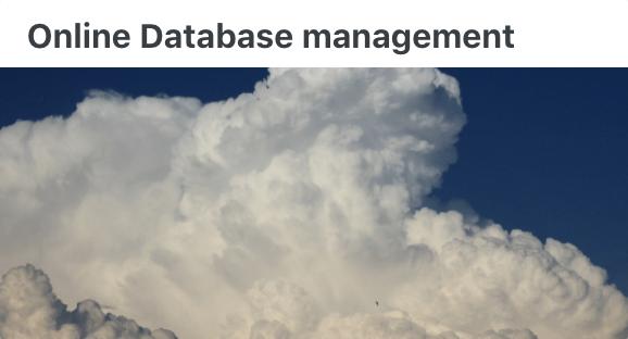 Online DB - User Documentation