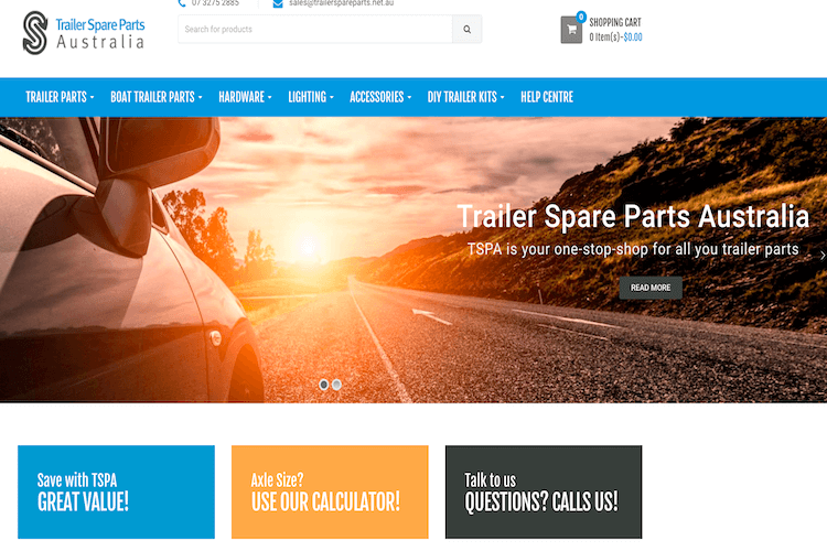 Trailer spare parts - Odoo ERP & CRM Software
