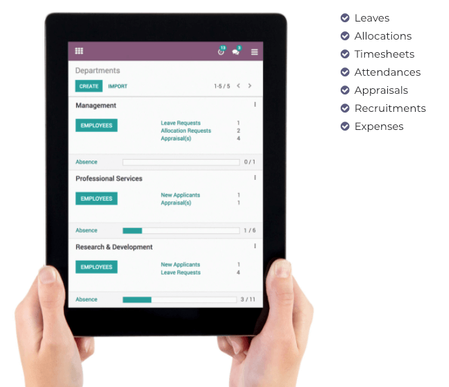 Odoo Human Resources Application - Human Resources APP