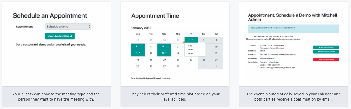 odoo appointment - Appointments APP