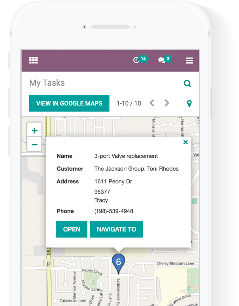 odoo field service application - Field Service APP